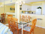 Dining Area Majestic Sun 703B  Miramar Beach Destin Florida Vacation Rentals
