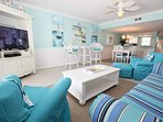 Living Room, Sandollar Townhomes Unit 12 Miramar Beach House Destin Vacation Rentals