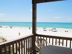 Balcony 1st Floor Sandollar Townhomes Unit 11 Miramar Beach Destin Florida Vacation Rentals