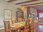 Gather around the dining room table to savor tasty home-cooked meals.