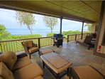 veranda with ocean view , BBQ grill