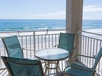 Enjoy breathtaking views from the private oceanfront balcony.