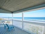 2 deep 30' oceanfront balconies with breathtaking views of the ocean.