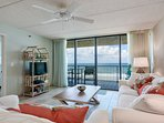 Beautiful ocean front view from the living room.