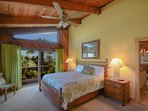 Oceanfront master bedroom with king size bed, flat screen HDTV, walk-in closet, private bath and sliders to the...