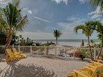 NICE SUNNY PAVER PATIO & BEACH FOR SUN LOVERS