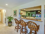 Bar to the dinning room and Kitchen