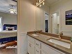 BEDROOM 3 & 4:  Jack & Jill Shared Bathroom