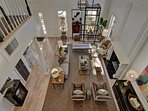 Bird's Eye View of Formal Living Room