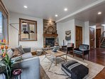 The living room & gourmet kitchen are the center of the home