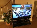 Beautiful HDTV in living room for your enjoyment.  75' with a DVD