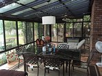 Another view of sunroom ac/heated and lots of room for your enjoyment