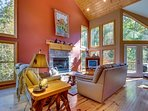Spacious cabin w/ a game room, a firepit, & access to shared pool/tennis
