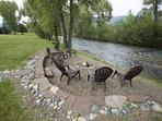 Firepit by the river