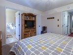 Master Bedroom #1...on first level; King Bed/Flat Screen TV/Full En-suite bathroom