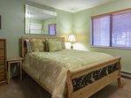 Guest Bedroom #2 on first level; Queen Bed/Flat Screen TV/Full En-suite Bathroom
