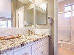 Master Bathroom #1 -En-Suite, Shower, granite counter upgrades, subway tile