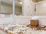 Guest Bathroom #2- just outside bedroom #2- Granite Counter Tops, Shower