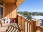 view from unit deck/ little eagle lodge/chair #15