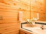 Pinecone Cabin half bath