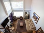 Living Room View From Above -Loft Area)