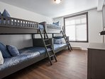 Bedroom #3 - Two sets of bunk beds ( Twin over Full) & Flat Screen TV