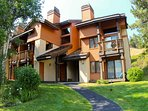 Snowcreek #474- End Unit- Sunny/Bright! Front of unit in Summer