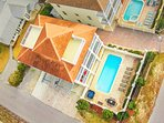 Aerial View of Aphrodite Located in the Frangista Beach Community
