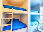 1st Floor Bunk Room with 4 Queen Beds and 2 Twin Beds