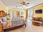 3rd Floor Master King Suite feat. Jacuzzi Tub and Balcony Access