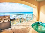 Frangista Pearl Features A Splash Pool and Gas Grill, Views of the Gulf