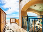 This Beautiful Beach Front Home Features A Private Beach Access