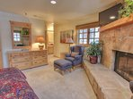 Master Suite 2 with King Bed, TV/DVD, Wood Fireplace and Private Bath