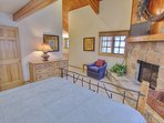 Master Suite 3 with King Bed, TV/DVD, Wood Fireplace and Private Bath