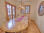 Dining Room with Table Seating for 8-10, Deck Access