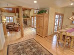 Large dining table seating 8-10, accessible to deck and adjacent to great room in Cache 11 - Silverlake Deer Valley