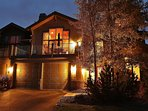 Front exterior with large deck, 2 car garage and amazing views of Park City Tranquility - Park City