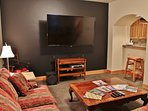 Family room with 70' HD TV/Blue Ray DVD/Wii U and sound bar - Park City Tranquility - Park City