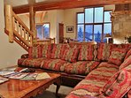 Family room adjacent to the living room and kitchen - Park City Tranquility - Park City