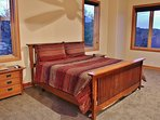 Upper level master bedroom suite with king bed, gas fireplace, 32' TV, and Blue Ray DVD - Park City Tranquility - Park...