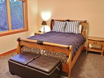 Main level master bedroom with queen bed, full bathroom and 32' TV with cable - Park City Tranquility - Park City