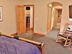 Main level is a large bedroom with TV, full bathroom, and nice closet space - Park City Tranquility - Park City