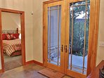 Lower level entry with double glass entry doors - Park City Tranquility - Park City