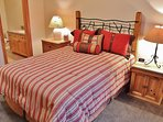 Lower level master bedroom with queen bed, full bathroom, and walk-in closet - Park City Tranquility - Park City