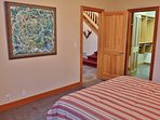 Lower level master bedroom with queen bed and full bathroom, located off the entry - Park City Tranquility - Park City