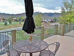 View from the front deck overlooking Park Meadows #1 hole, plus huge views of Park City and Deer Valley ski slopes...