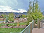 View from private deck with has a patio table and nice BBQ grill - Park City Tranquility - Park City