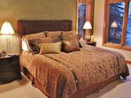 Third master suite of Park City Serenity - Park City located on the lower level featuring a king bed.