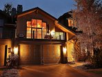 Front exterior with a large deck, 2 car garage and amazing views of Park City Tranquility - Park City