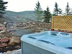 Private Hot Tub on Back Desk of Park City Serenity